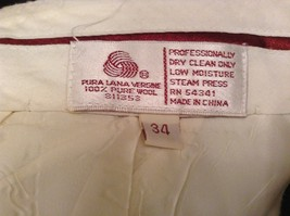 Dark Green 100 Percent Wool Pleated Front Dress Pants Louis Raphael Size 34 image 10