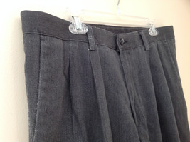 Dark Gray Pleated 4 Pocket Casual Pants Button Zipper Closure Dockers Size 38 image 4