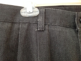 Dark Gray Pleated 4 Pocket Casual Pants Button Zipper Closure Dockers Size 38 image 6