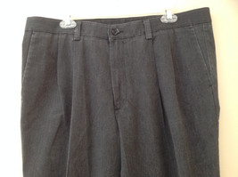 Dark Gray Pleated 4 Pocket Casual Pants Button Zipper Closure Dockers Size 38 image 2