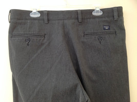 Dark Gray Pleated 4 Pocket Casual Pants Button Zipper Closure Dockers Size 38 image 8
