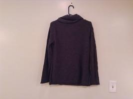 Dark Gray Knitted Liz Wear Turtleneck Sweater Size Medium Long Sleeves image 2