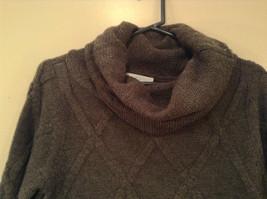 Dark Gray Knitted Liz Wear Turtleneck Sweater Size Medium Long Sleeves image 3