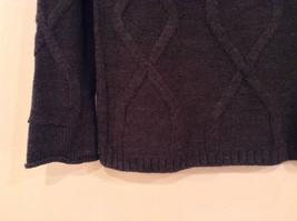 Dark Gray Knitted Liz Wear Turtleneck Sweater Size Medium Long Sleeves image 5