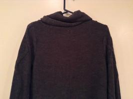 Dark Gray Knitted Liz Wear Turtleneck Sweater Size Medium Long Sleeves image 6
