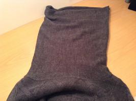 Dark Gray Knitted Liz Wear Turtleneck Sweater Size Medium Long Sleeves image 9