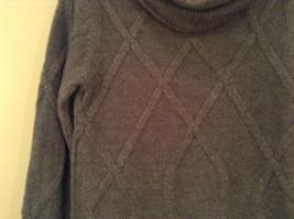Dark Gray Knitted Liz Wear Turtleneck Sweater Size Medium Long Sleeves image 4