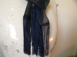 Dark Gray Rainbow Metallic Shine Tasseled Fashion Scarf Lightweight Material image 3