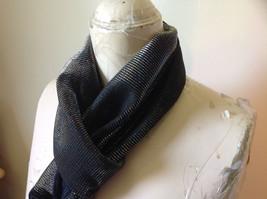 Dark Gray Rainbow Metallic Shine Tasseled Fashion Scarf Lightweight Material image 5