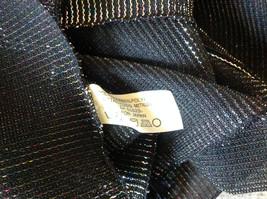Dark Gray Rainbow Metallic Shine Tasseled Fashion Scarf Lightweight Material image 7