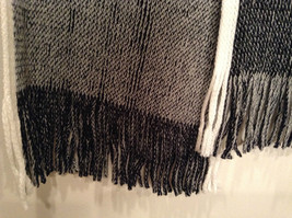 Dark Gray Knitted Reversible Scarf One Size NEW WITH TAGS image 3