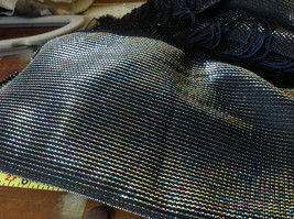 Dark Gray Rainbow Metallic Shine Tasseled Fashion Scarf Lightweight Material image 6