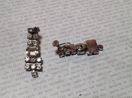 Dangling Vintage Style White Stone Screw Back Earrings Screw Tightening Backing image 3