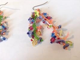 Dangling Multicolored Earrings Unique Stones Handmade image 4