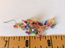 Dangling Multicolored Earrings Unique Stones Handmade image 5