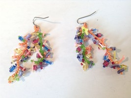Dangling Multicolored Earrings Unique Stones Handmade image 2