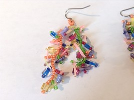 Dangling Multicolored Earrings Unique Stones Handmade image 3