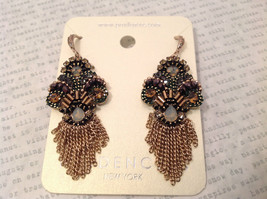 Dangling chains Multi color high quality Crystal Prudence C Earrings NEW image 3