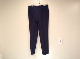 Dark Blue Black Dress Pants No Tags High Quality Fabric Measurements Below image 3