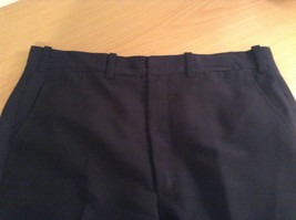 Dark Blue Black Dress Pants No Tags High Quality Fabric Measurements Below image 5