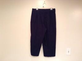 Dark Blue Briggs New York Size 16W Capri Pants Side Zipper Closure Cotton Blend image 4
