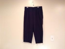 Dark Blue Briggs New York Size 16W Capri Pants Side Zipper Closure Cotton Blend image 2
