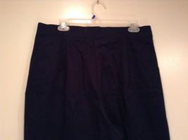 Dark Blue Briggs New York Size 16W Capri Pants Side Zipper Closure Cotton Blend image 5