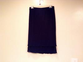 Dark Blue Stretch Fabric Kathy Ireland 100 Percent Polyester Size Medium Skirt image 5
