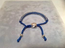 Dark Blue Small Tied String Bracelet Sliding Bead for Adjustment image 3