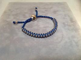 Dark Blue Small Tied String Bracelet Sliding Bead for Adjustment image 5
