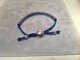 Dark Blue Small Tied String Bracelet Sliding Bead for Adjustment image 4