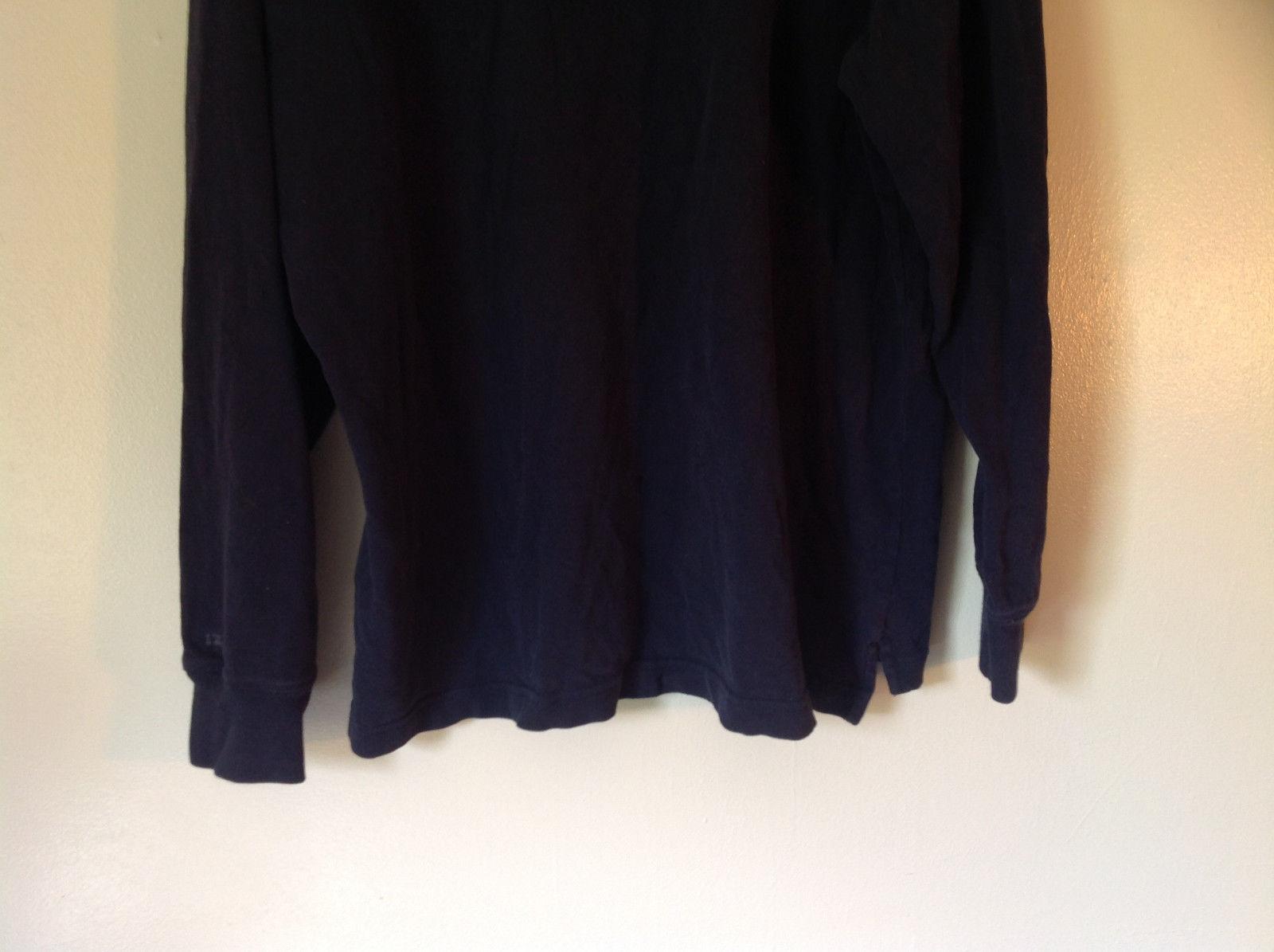 Dark Blue Long Sleeve 100 Percent Cotton Izod Shirt Made In Vietnam Size Large