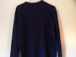 Dark Blue Long Sleeve 100 Percent Cotton Izod Shirt Made In Vietnam Size Large image 4