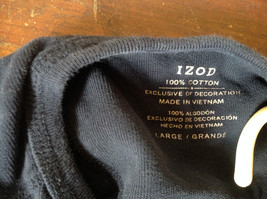Dark Blue Long Sleeve 100 Percent Cotton Izod Shirt Made In Vietnam Size Large image 6