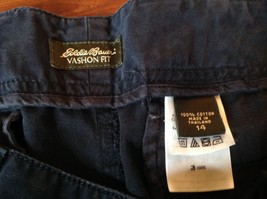 Dark Blue Casual Eddie Bauer Size 14 Outdoors Specialty Vashion Fit Pants image 6