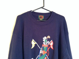 Dark Blue with Embroidered Golf Design Boston Traders Sweater Size 2XL Tall image 2