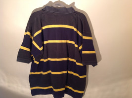 Dark Blue with Yellow Stripes Bert Pulitzer Short Sleeve Casual Shirt Size XL image 5