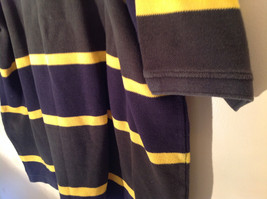 Dark Blue with Yellow Stripes Bert Pulitzer Short Sleeve Casual Shirt Size XL image 6