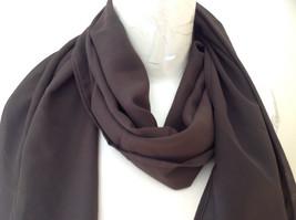 Dark Brown Fashion Scarf Chiffon Like Material by Magic Scarf Company image 3