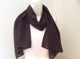 Dark Brown Fashion Scarf Chiffon Like Material by Magic Scarf Company image 5