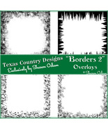 Digital Scrapbooking Borders 2 Page Overlays - $4.00