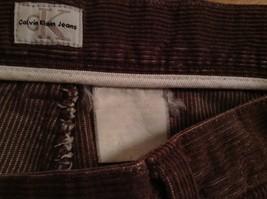 Dark Brown Corduroy Jeans Calvin Klein Jeans 100 Percent Cotton No Size Tag image 8