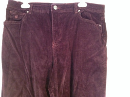 Deep Burgundy Size 14 Corduroy Pants Size 14 Gloria Vanderbilt Button Zipper image 4