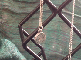 Delicate Hammered Sterling Silver Coil Necklace image 3