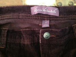 Deep Burgundy Size 14 Corduroy Pants Size 14 Gloria Vanderbilt Button Zipper image 7