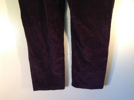 Deep Burgundy Size 14 Corduroy Pants Size 14 Gloria Vanderbilt Button Zipper image 6