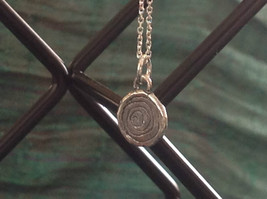 Delicate Hammered Sterling Silver Coil Necklace image 2