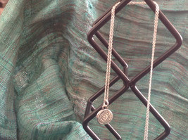Delicate Hammered Sterling Silver Coil Necklace image 4