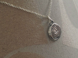 Delicate Hammered Sterling Silver Coil Necklace image 6