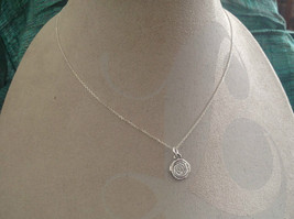 Delicate Hammered Sterling Silver Coil Necklace image 5